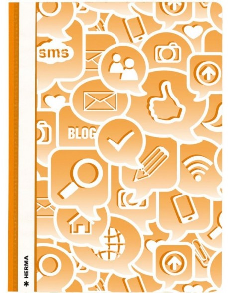 Schnellhefter A4 Social Icons orange