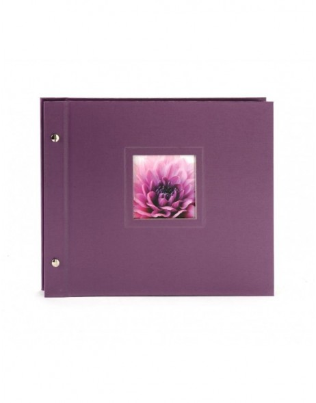 screw bound album Colore blackberry 30x24,5 cm