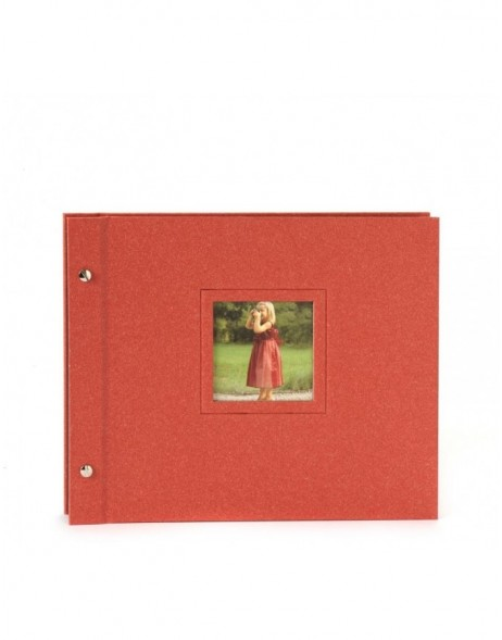 screw bound album Colore red 30x24,5 cm
