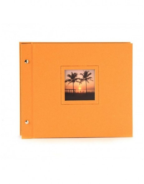 screw bound album Colore orange 30x24,5 cm