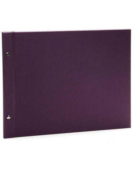 Post bound photo album Sirio purple 23x17 cm