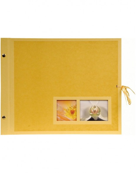 Post bound album Krea Mohn in yellow