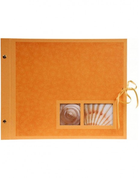 Krea Mohn orange post bound photo album