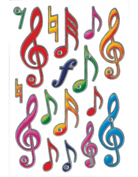 decorative labels Musical Notes - with jewels