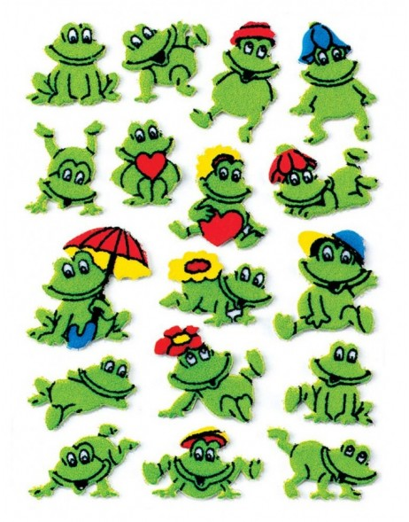 decorative labels Frogs - fuzzy