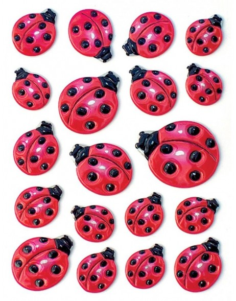 decorative labels  Lady bug with embossing