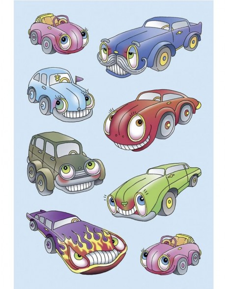 decorative labels Cars - stamped