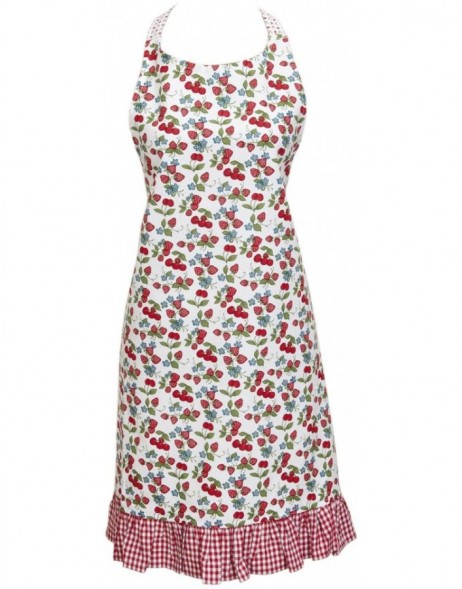 apron 70x85 cm - Strawberries and Cherries