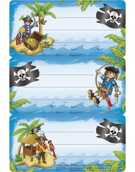 Licence Playmobil pirates 3 labels, 2 sh.