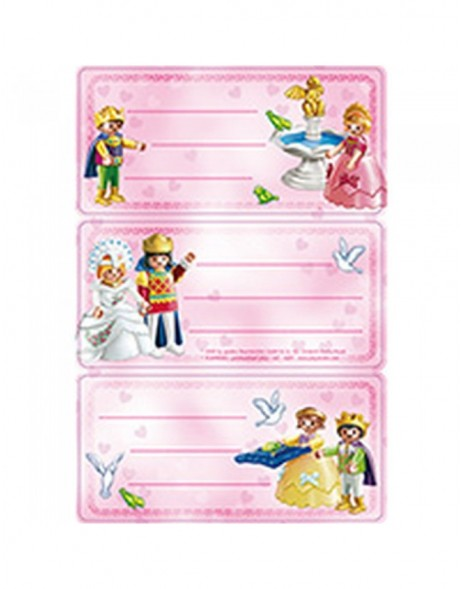 Licence Playmobil princess 3 labels, 2 sh.