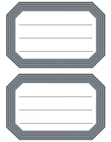 Book labels 82x55mm grey frame lined 6 sh.