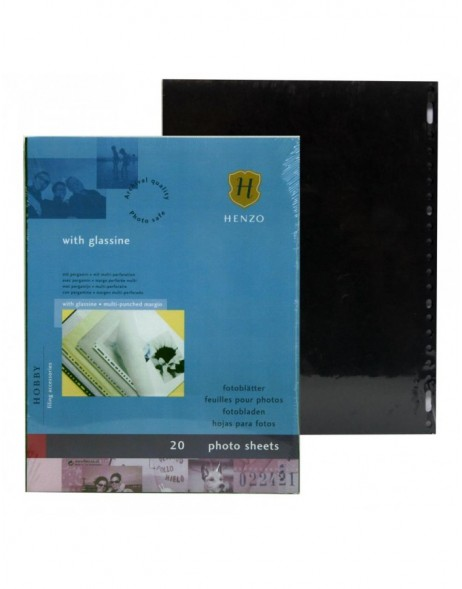 Henzo photo sheets black  with glassine