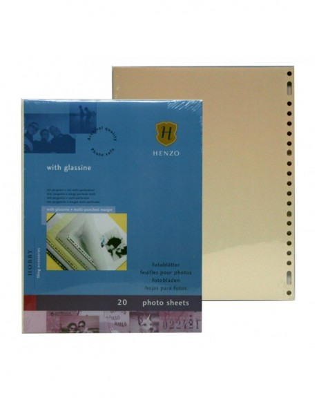 Henzo cream photo sheets