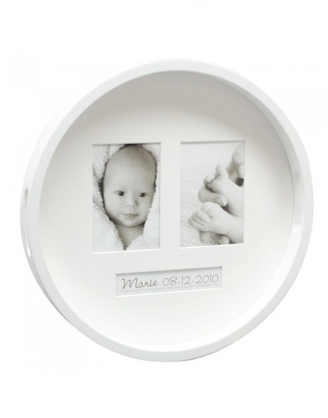 Picture tray Madha round and white