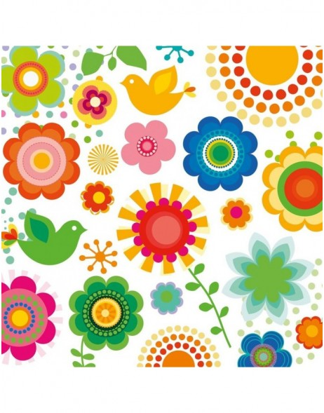 Servietten Flower Power 33x33
