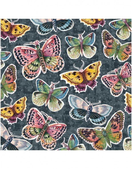 Napkins Butterflies anthracite