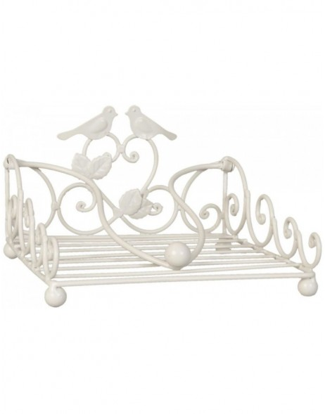 BIRDS napkin holder white - 6Y1449W Clayre Eef
