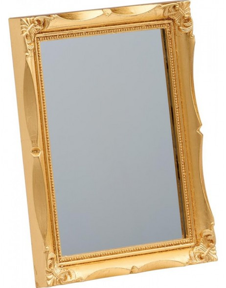 mirror 13x18 cm with golden frame