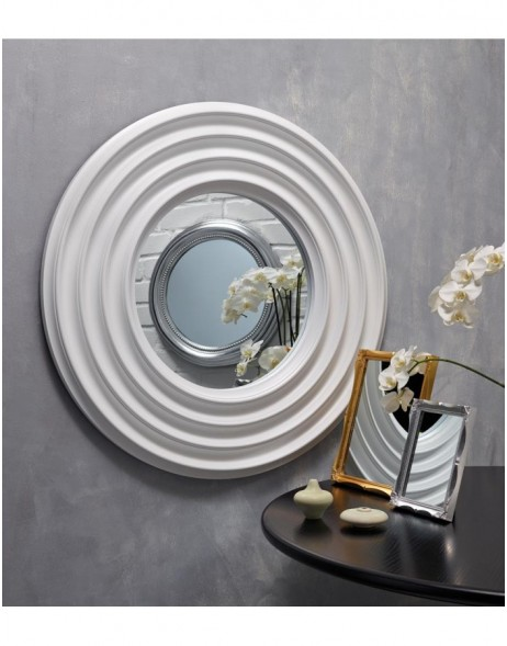 mirror with white frame 76 cm