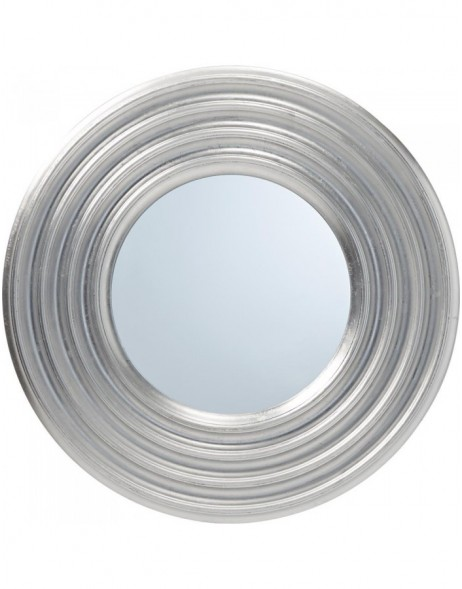 mirror with silver frame 76 cm