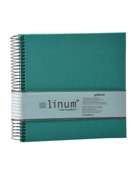 Sketch book spiral bound Linum green