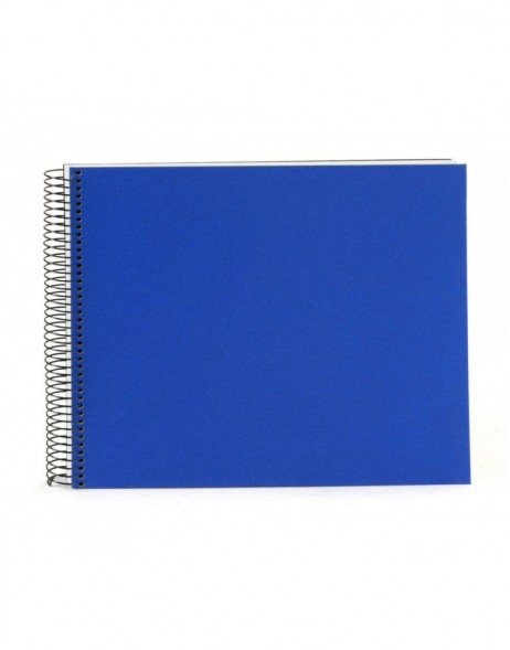 Spiral album Bella Vista blue 35x30 cm white pages