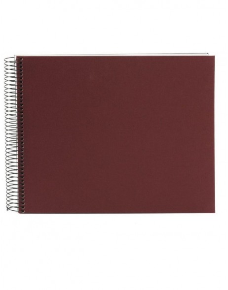 Spiral album Bella Vista wine-red 35x30 cm white pages