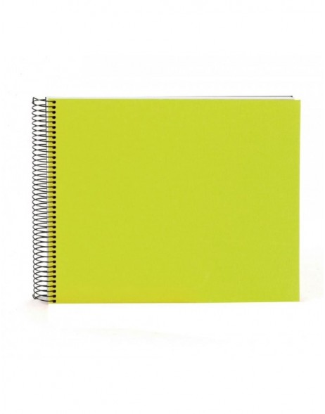 Spiral album Bella Vista green 35x30 cm white pages