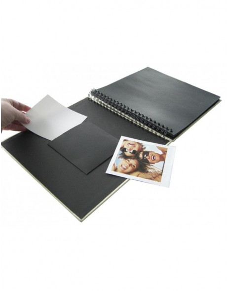 Spiral bound photo album FUN - black, 33x33 cm