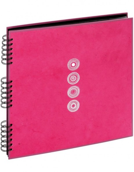 Spiral album Lazuli pink 33x33 cm black pages with glassine