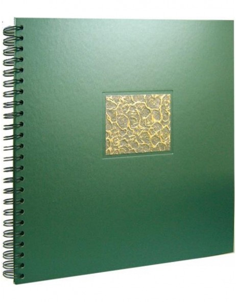 spiral bound album Perla green
