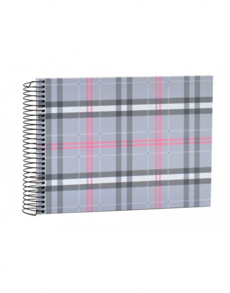 Scottish Diamonds pink spiral bound album