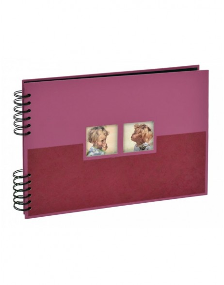 Zinia photo album spiral bound violet 12.5x9 black sides