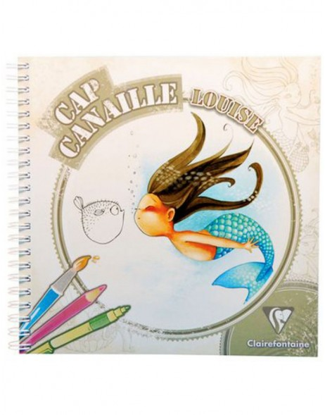 Spiral book Canaille Louise coloring book 20x20 cm