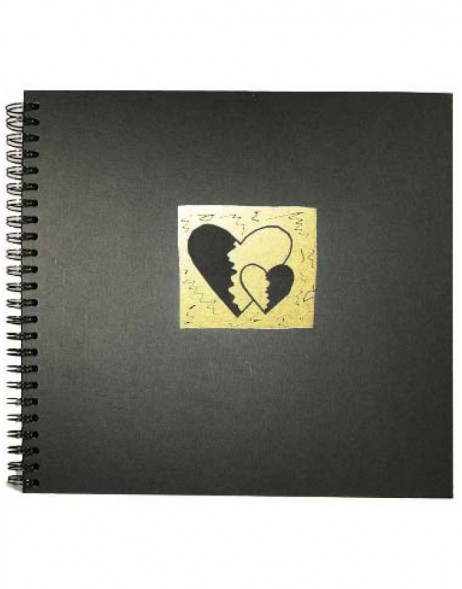 spiral bound photo album BROKEN HEARTS - gold