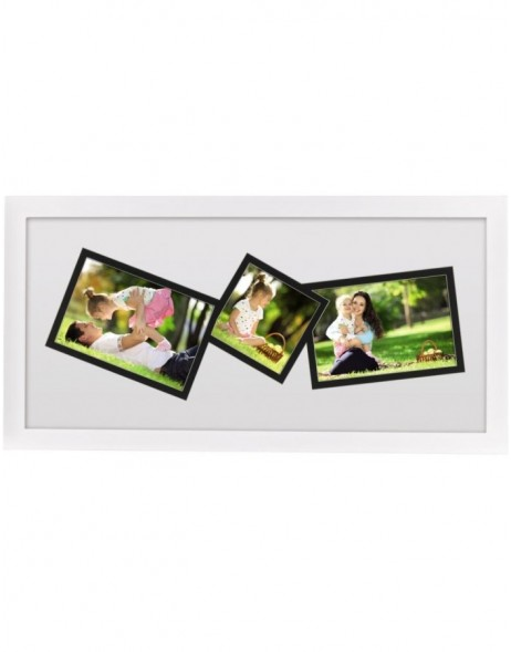 photo gallery frame St. Louis 3 photos white