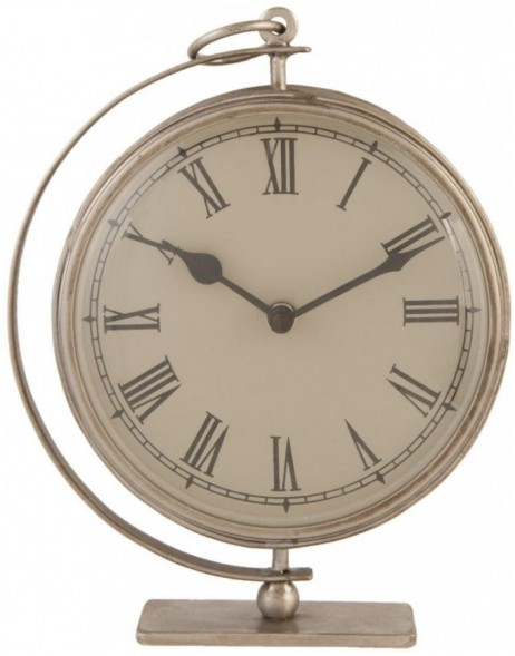 grandfather clock silver - 6KL0217 Clayre Eef