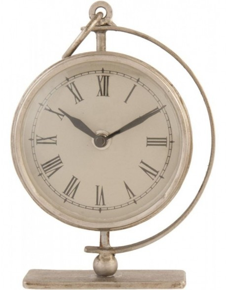 grandfather clock silver - 6KL0218 Clayre Eef