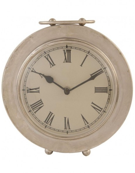 grandfather clock silver - 6KL0219 Clayre Eef