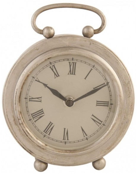 grandfather clock silver - 6KL0220 Clayre Eef