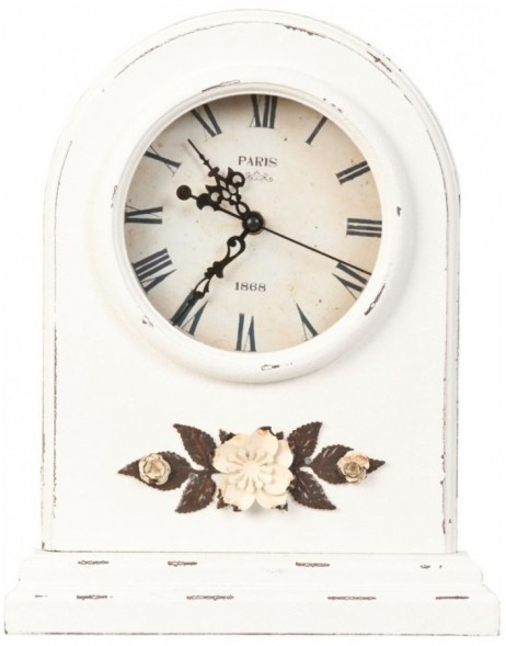 grandfather clock white  - 6KL0216 Clayre Eef
