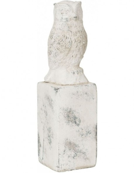 stone-decoration OWL - 6TE0028 Clayre Eef