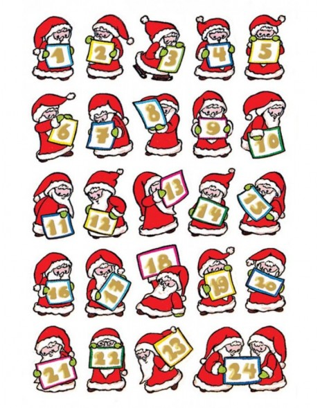 Sticker Adventskalender Nikolaus, Goldpr.