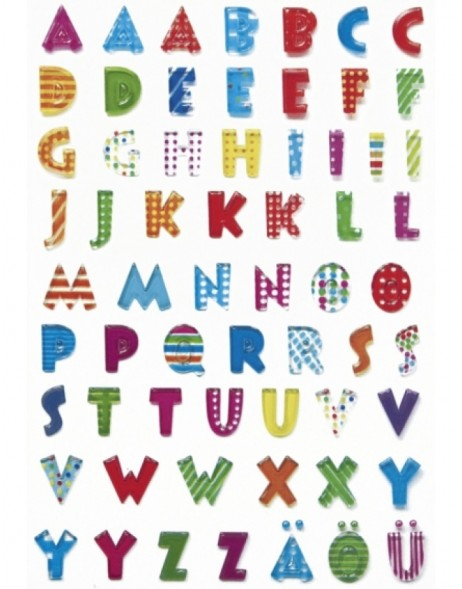 MAGIC  decorative stickers Letters stone embossed