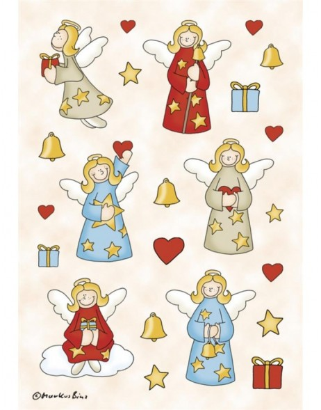 DECOR stickers angel glittery 3 sheets