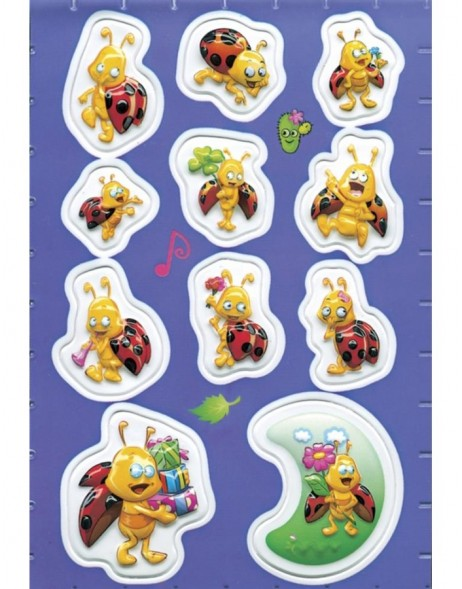 Decorative stickers MAGIC Ladybird, popup 1 sheet