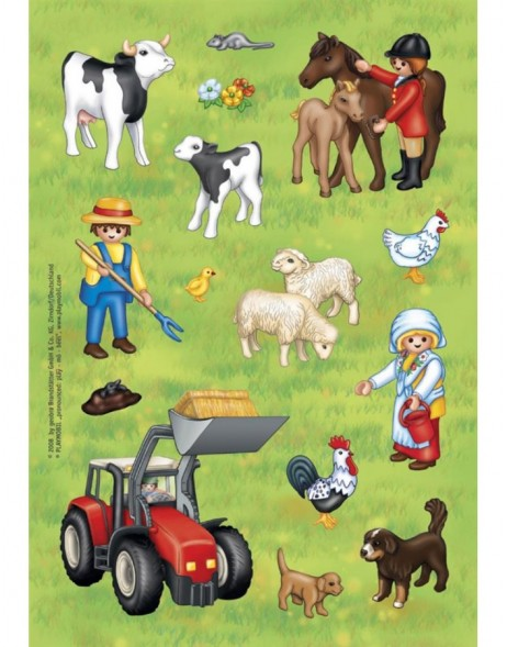 decorative labels Playmobil Bauernhof 2 sheets