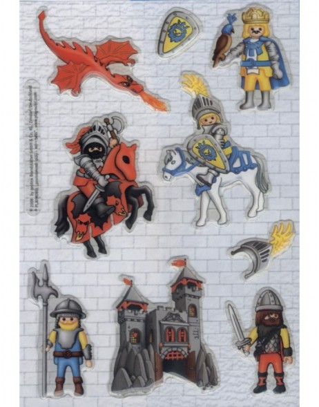 decorative labels Playmobil Ritter 1 sheet