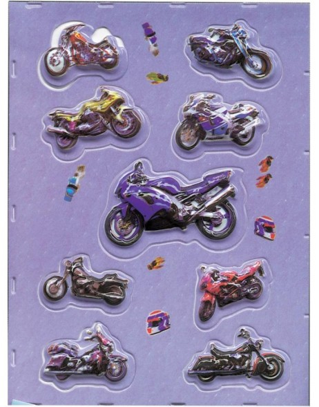 Stickers - motorcycle design - foam