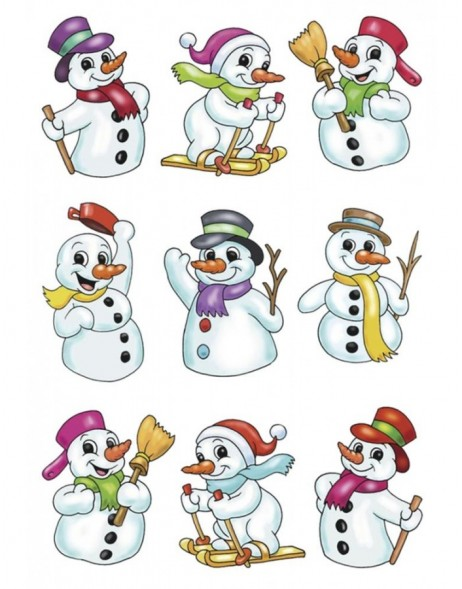 Sticker MAGIC Snowman, stone